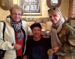 Olympian Josh Dueck  with my mother and myself