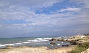 The Caspian, no seashells in sight, just sea glass