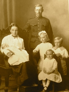 Sarah and William with their four children, my grandmother lies on her mother's lap