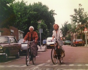 On my fiets with a great-aunt in Amsterdam