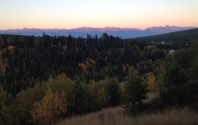 Alpenglow on the Rockies